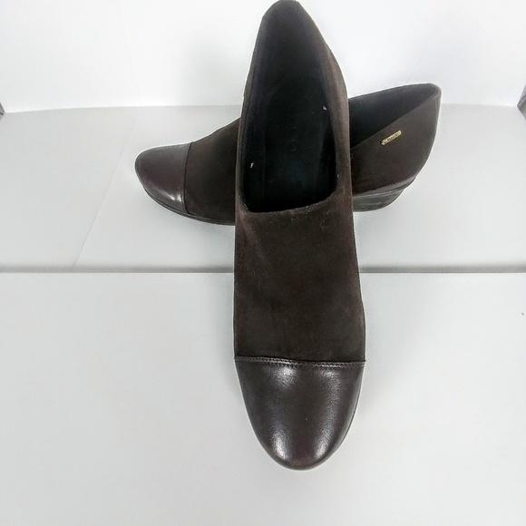 Ecco nubuck sneakers met gore tex   wehkamp